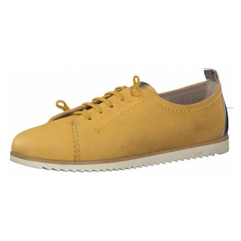 MARCO TOZZI Buty sznurowane żółty