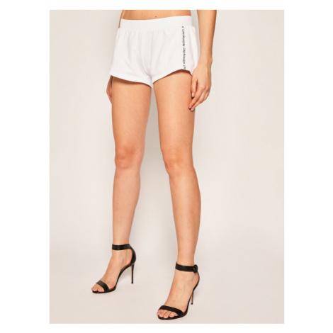 Calvin Klein Swimwear Szorty plażowe KW0KW01004 Biały Regular Fit