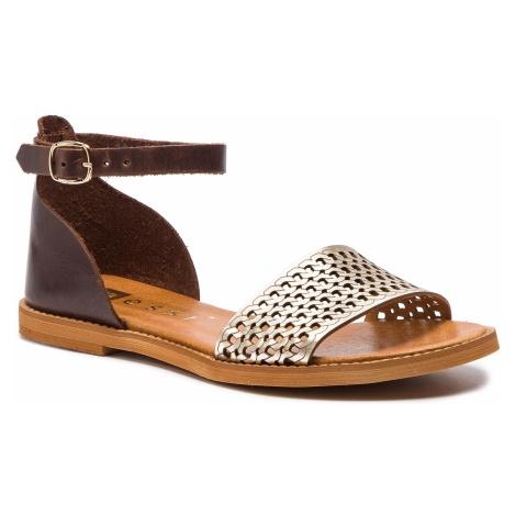 Sandały NESSI - 18381 Brąz/Złoto 11