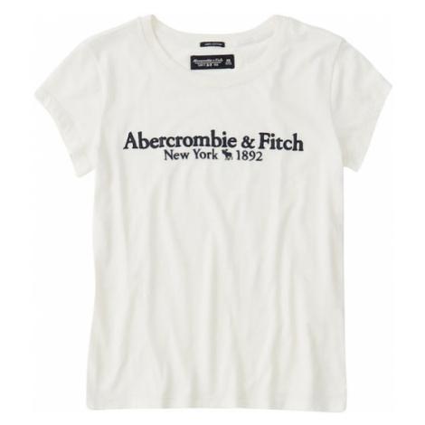 Abercrombie & Fitch Koszulka 'SHORT-SLEEVE LOGO TEE' biały
