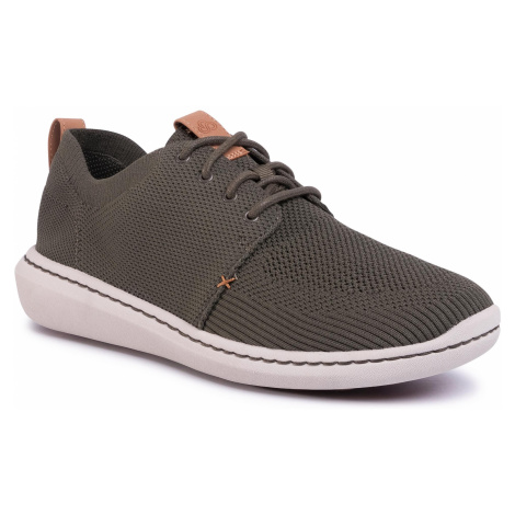 Sneakersy CLARKS - Step Urban Mix 261381747 Khaki