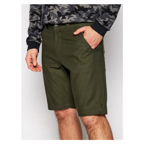 Helly Hansen Szorty materiałowe Essential Canvas 62945 Zielony Relaxed Fit
