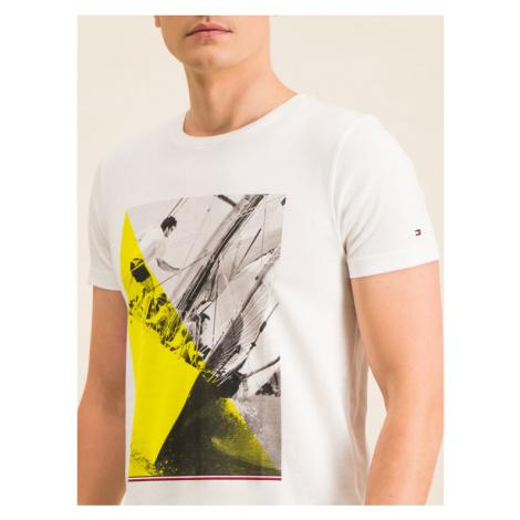 TOMMY HILFIGER T-Shirt Sailing Photo Print Tee MW0MW12527 Biały Regular Fit