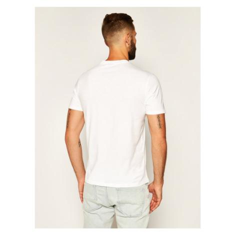 Champion T-Shirt Vintage TV Pront 214343 Biały Comfort Fit