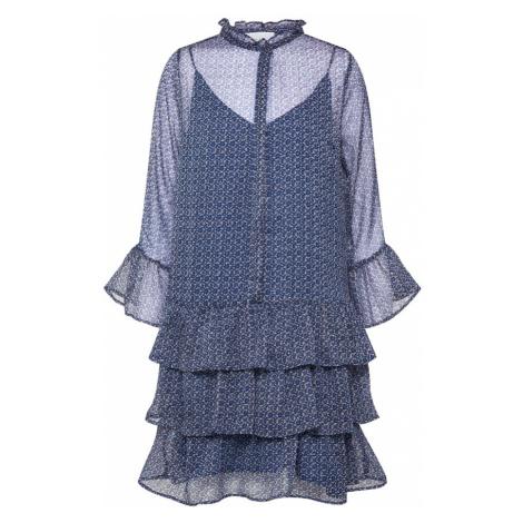 Neo Noir Sukienka koszulowa 'Iben Mosaic Dress' niebieski