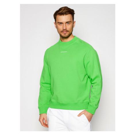 Calvin Klein Jeans Bluza J30J318507 Zielony Regular Fit