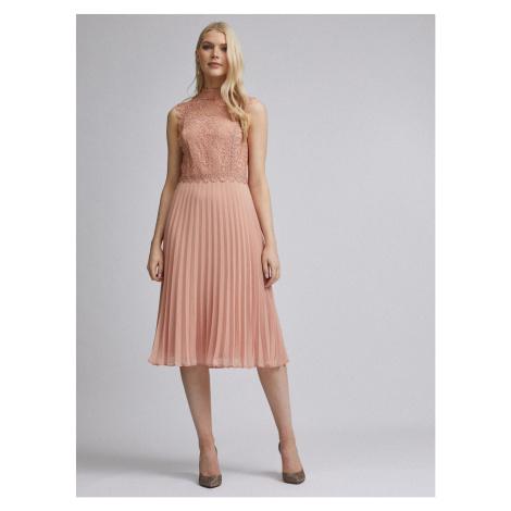 Pink midi dress by Dorothy Perkins