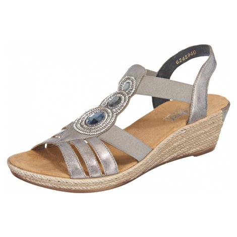 RIEKER Sandały z rzemykami srebrny