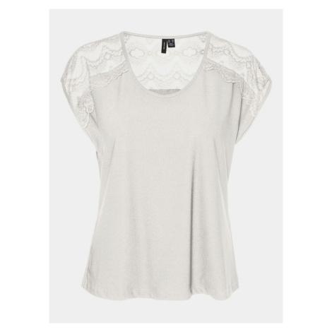 Biała bluzka damska z koronką VERO MODA Milla