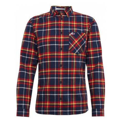 Tommy Jeans Koszula 'TJM CHECK FLANNEL SHIRT' ciemny niebieski / ciemnożółty / rdzawoczerwony Tommy Hilfiger