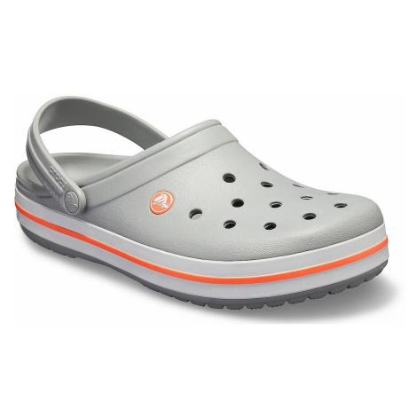 buty Crocs Crocband Clog - Light Gray/Bright Coral
