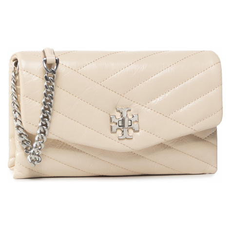 Torebka TORY BURCH - Kira Chavron Distressed Chain Wallet 75451 New Cream 122