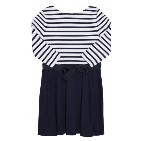 Polo Ralph Lauren Sukienka codzienna Stripe Solid 312720091001 Granatowy Regular Fit
