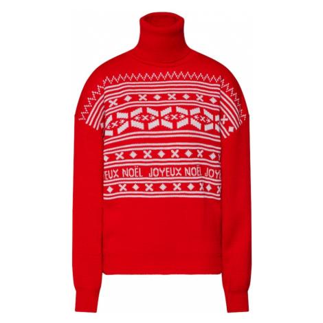 Missguided Sweter 'Christmas Fairisle' czerwony / biały