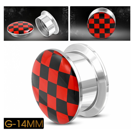 piercing Body Art TTB382 - Red Check