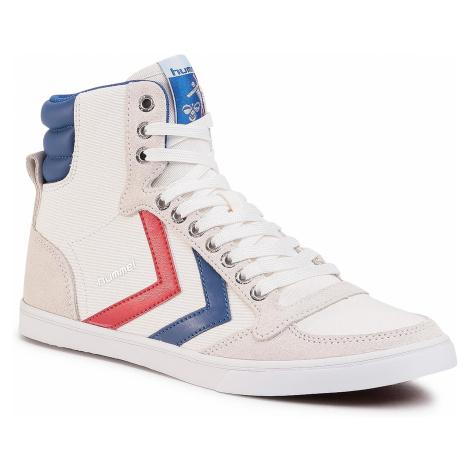 Sneakersy HUMMEL - Slimmer Stadil High 63511-9228 White/Blue/Red/Gum