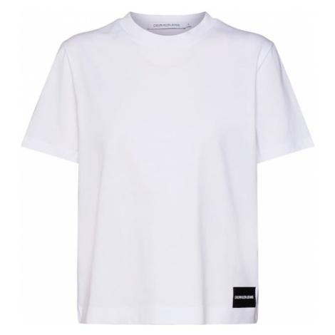 Calvin Klein Jeans Koszulka 'CORE STRAIGHT FIT TEE' biały