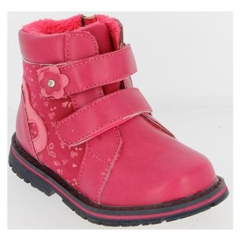 V+J buty zimowe za kostkę dziewczęce 25 różowy