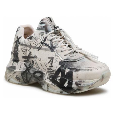 Sneakersy BRONX - 66340-A Off White/Light Grey 3433