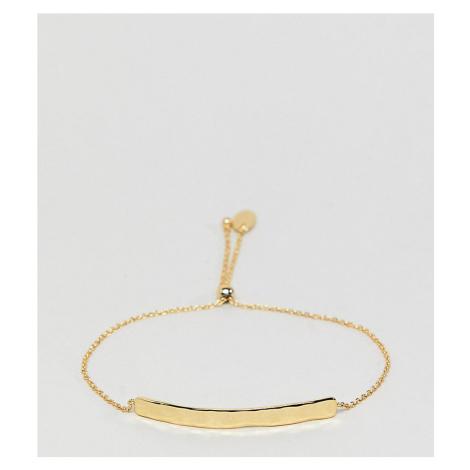 Orelia gold plated hammered bar bracelet