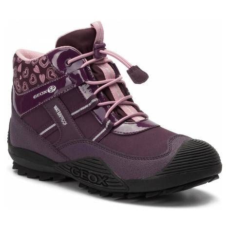 Śniegowce GEOX - J Atreus G.B Wpf A J847HA 00450 C8224 D Purple/Pink