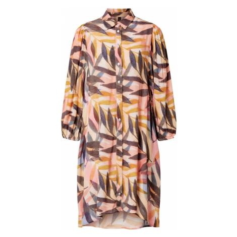 Y.A.S Sukienka koszulowa 'LEAFY' beżowy / różany / kolory błotniste / gołąbkowo niebieski