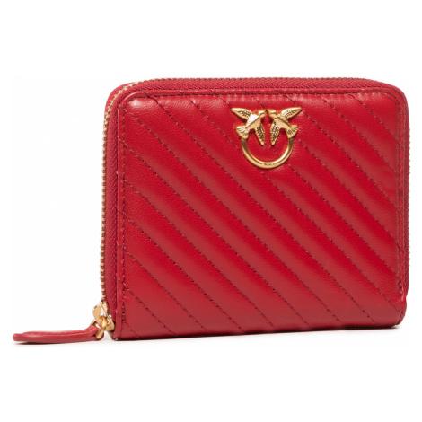 Duży Portfel Damski PINKO - Taylor Wallet Zip Around M V Qui Al 20-21 PLTT 1P21U7 Y6KT Ruby Red