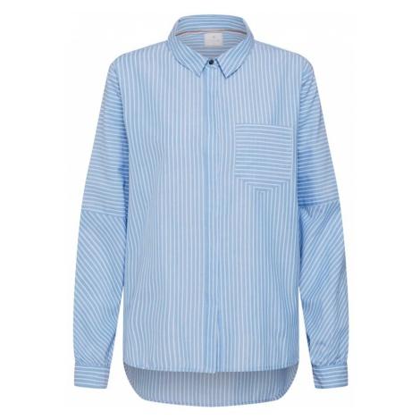 CULTURE Bluzka 'Vinca' jasnoniebieski / biały