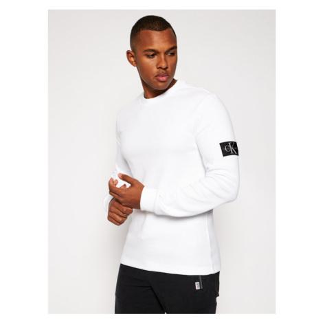 Calvin Klein Jeans Sweter J30J316610 Biały Regular Fit