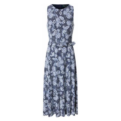 Lauren Ralph Lauren Sukienka 'Farrah' czarny / niebieski / biały