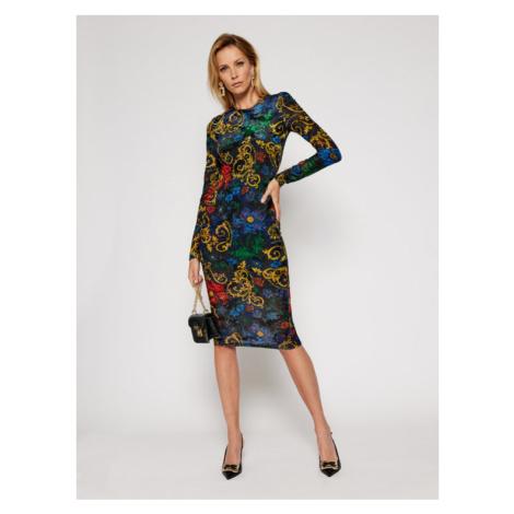 Versace Jeans Couture Sukienka codzienna D2HZB426 Kolorowy Slim Fit