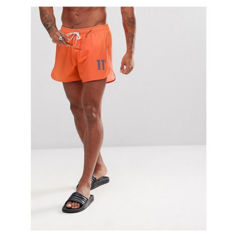 11 Degrees logo swim shorts in orange