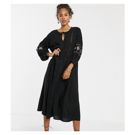 Y.A.S Tall embroidered sleeve dress
