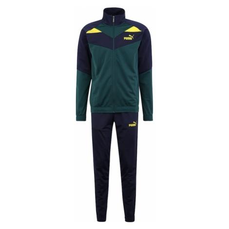 PUMA Strój treningowy 'Iconic Tricot Suit cl' niebieski / ciemnozielony