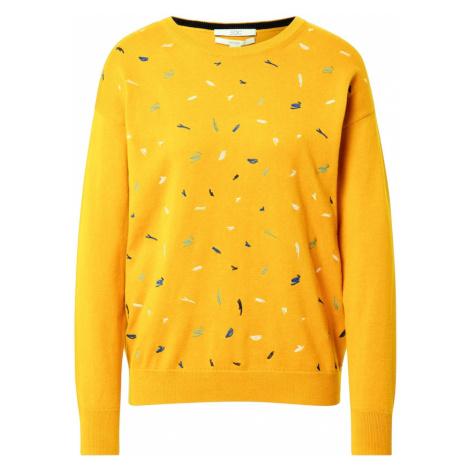EDC BY ESPRIT Sweter niebieski / żółty / biały