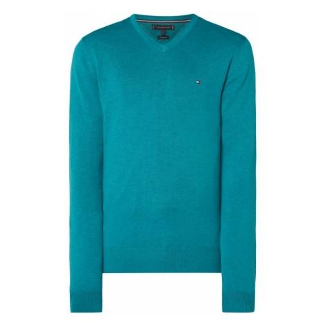 Sweter z mieszanki bawełny i jedwabiu Tommy Hilfiger