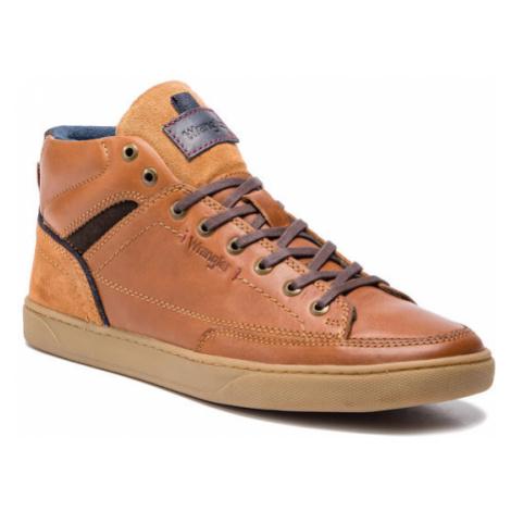 Wrangler Sneakersy Jasper Mid WM172111 Brązowy