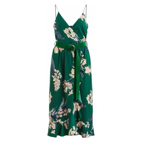 VILA Letnia sukienka niebieski / zielony / brzoskwiniowy
