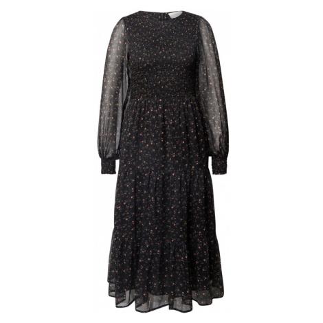 Neo Noir Sukienka koktajlowa czarny / różowy pudrowy / zielony