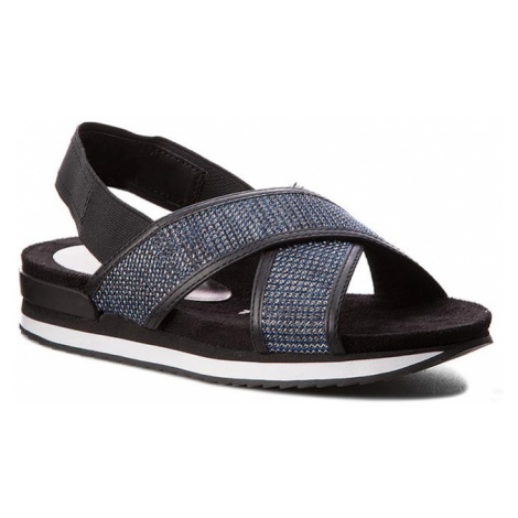 Sandały TAMARIS - 1-28703-38 Nt. Blue Gl/Blk 893
