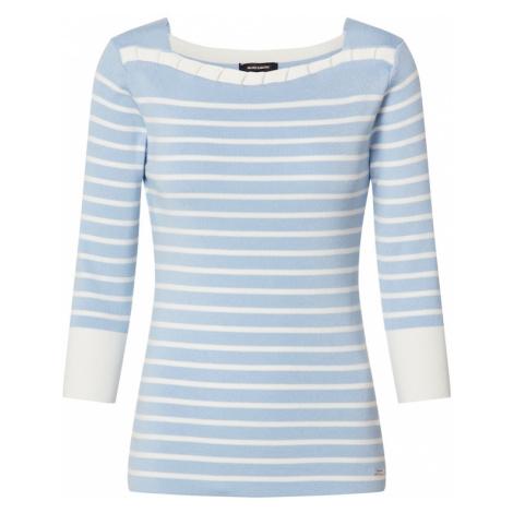 MORE & MORE Sweter podpalany niebieski / naturalna biel