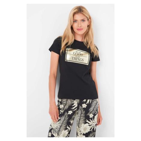 Bawełniany t-shirt z nadrukiem Orsay