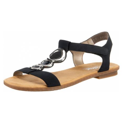 RIEKER Sandały z rzemykami ciemny niebieski