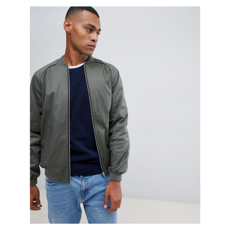 ASOS DESIGN bomber jacket in khaki