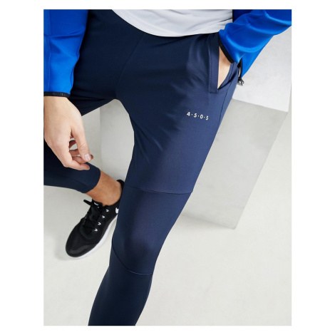 ASOS 4505 super skinny training joggers with zip cuff in navy