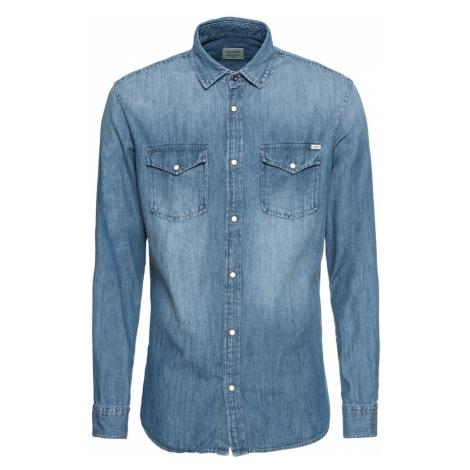 JACK & JONES Koszula niebieski denim