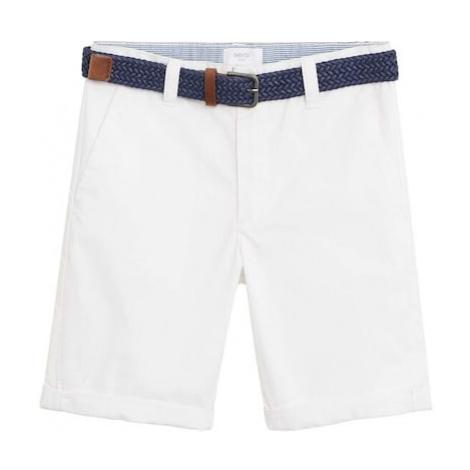 MANGO KIDS Spodnie 'Pico6' biały