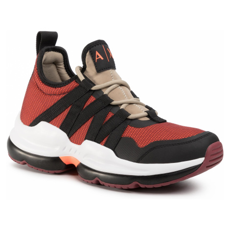 Sneakersy ARMANI EXCHANGE - XUX056 XV214 P084 Oran.Fluo/Bord/Blk