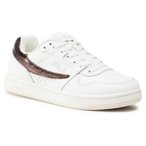 Sneakersy FILA - Arcade F Low 1010773.85H White/Chocolate Brown