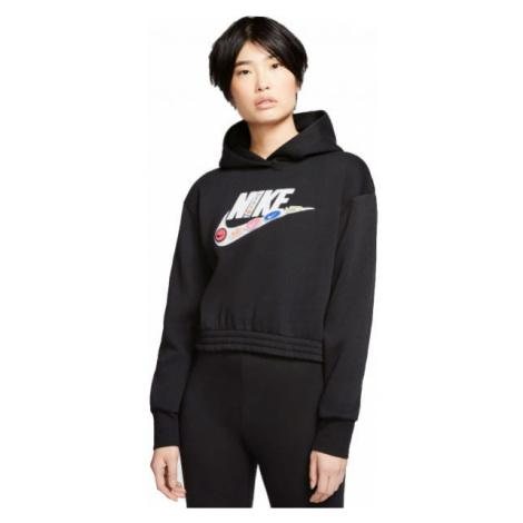Nike NSW ICN CLSH FLC HOODIE BB W czarny M - Bluza damska
